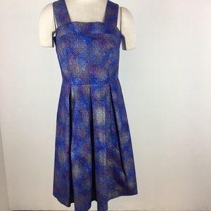 Bea & Dot ModCloth dress purple blue gold metallic